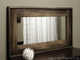 wood mirror frame ideas. Enjoyable Inspiration Rustic Mirrors For Bathrooms Modern Decoration Design Winsome Wood Mirror Frame Wall 28 X 40 Ideas