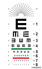 Where Can I Buy An Eye Chart Tumbling E Eye Chart Snellen E Eye Chart Vector Buy This