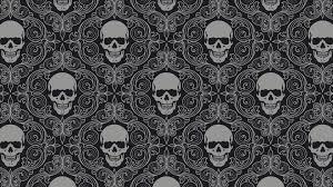 Skull Pattern Enchanting Skull Pattern Wallpaper 48 Skulls Pinterest Pattern