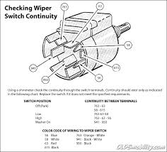 ford truck technical drawings and schematics section h wiring checking windshield wiper switch continuity