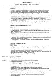 Credit Analyst Resume Commercial Credit Analyst Resume Samples Velvet Jobs