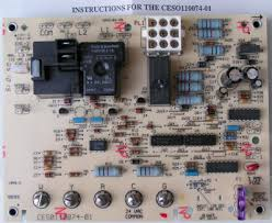carrier control board. ceso110074-01 bryant carrier furnace control circuit board o