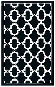 black and white area rug 8x10 the rug market signature outdoor black white area rug black