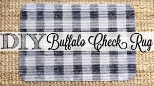 diy buffalo check rug dollar tree