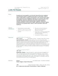Resume Teacher Template Extraordinary Resume Of A Teacher Teachers Aide Template Word Education Objectives