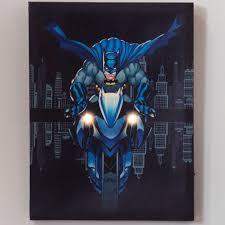 dc comics batman batcycle lighted
