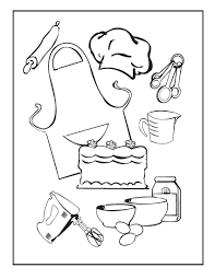 Small Picture Cooking and Baking Coloring Pages Birthday Printable Recipes