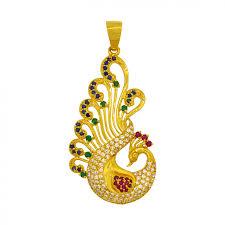 gold peacock pendant earstud set pendants jewellery 1800 1800