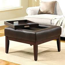 round cocktail ottoman large tufted coffee table fabric storage black leather with