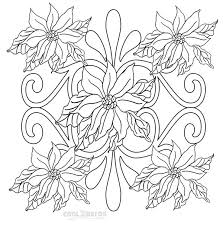 Colouring is becoming even more popular for. Printable Poinsettia Coloring Pages For Kids