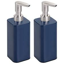 Amazon.com: mDesign Modern Square Metal Refillable Liquid Hand Soap ...