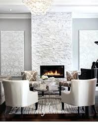 white stacked stone fireplace veneer for