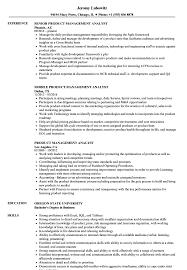 Product Analyst Resume Sample Product Management Analyst Resume Samples Velvet Jobs 13