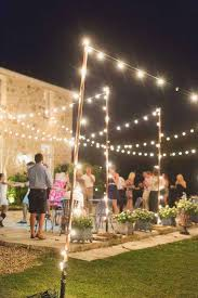 ways to hang string lights how outdoors without trees outdoor designs