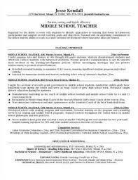 Middle School Resume Template Cover Letter Samples Cover Letter