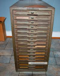 Old Metal Cabinets Vintage Industrial Remington Rand Kardex Metal File Cabinet 16