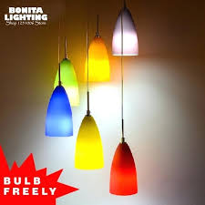 contemporary colorful pendant lights frosted glass pendant lighting for restaurants modern simple rainbow design lamp pendant