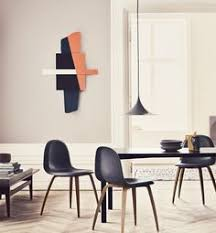 semi pendant l by gubi has bee famous for its arc shaped enamelled metal with the shape based on two quarters of a circle