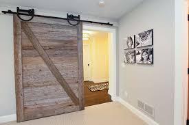 sliding barn door Hall Rustic with track door nbsp reclaimed sliding wood  door