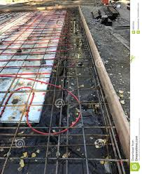 In Slab Radiant Heating Design Foundation With Radiant Heat Ready For Concrete Stock Image