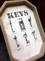 skeleton key holder chart wall decor antique vintage style