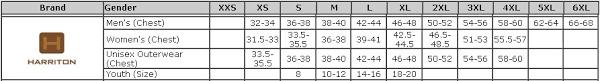 Harriton Size Chart Harriton M315 Mens Polytech Polo