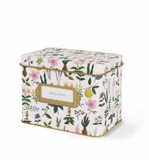 Decorative Recipe Box Herb Garden Recipe Box With Cards Les Gifts 23