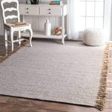 6x9 grey rug handmade solid jute cotton fringe grey rug 6x9 gray area rug 6x9 gray 6x9 grey rug