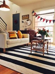 black and white rug living room. black-and-white-striped-rug-living-room-eclectic-with-artwall-black-and- white | beeyoutifullife.com black and rug living room m