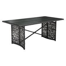 zuo santa cruz aluminum outdoor dining table