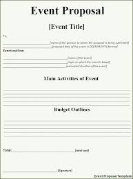 Proposal Templates Free Event Proposal Template Free Download Event Proposal Template