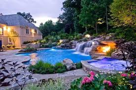 inground pool waterfalls. County Swimming Pool Waterfalls Traditional For Inground Pools Rock And New . With Waterfall Design Spa Luxury L