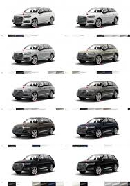 Audi Colour Chart 2018 2017 Audi Q7 Visualizer Colors Cabins Pricing And