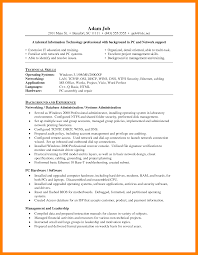 8 Network Administrator Resume Job Apply Form