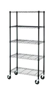 metal shelves with wheels 5 tier shelf shelves steel wire metal shelving on wheels home depot