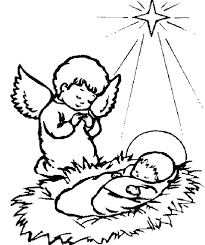 Small Picture A Little Angel Praying for Baby Jesus Coloring Page Free