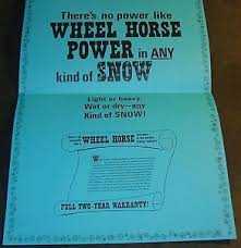 Power Wheel Chart Details About Vintage 1969 Wheel Horse Tractor Snowblower Snow Power Chart Framable 658