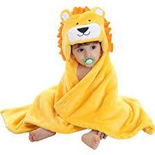 Amazon.com : <b>Baby Hooded Bath</b> Towels <b>Animal Bathrobe</b> Fleece ...