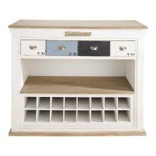 distressed wooden bar unit with drawers in white w129 molene