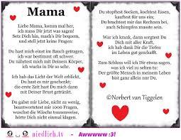 Liebe Mama Hier Ist Ein Gedicht Für Dich
