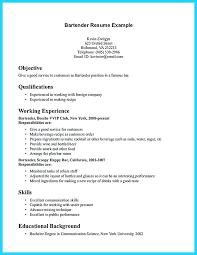 Resume Volunteer Experience Sample Offers Various Bartender Resume