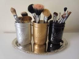 mason jar makeup brush holder. gold silver black mason jar makeup brush holder office supply