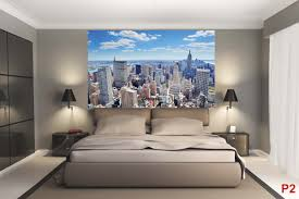 New York Skyline Wallpaper For Bedroom Mural Panoramic Daily View Of New York