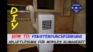 How To Fensterdurchführung Klimaschlauch I Abluft Für Mobiles