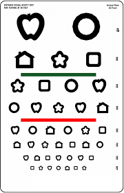 Snellen Chart Kids Learning Activity Printable Chart Or