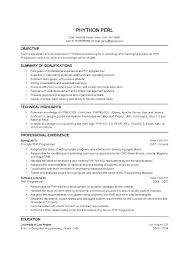 Php Developer Resume Php Resume Skinalluremedspa Com