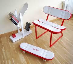 Skateboard Bedroom Furniture Remarkable Diy Skateboard Chair Images Inspiration Tikspor
