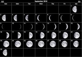 September 2018 Moon Phase Get Up And Go Kayaking