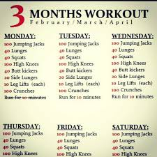 Exercise Daily Routine Chart Daily Exercise Schedule Workout Schedule Gym Workouts