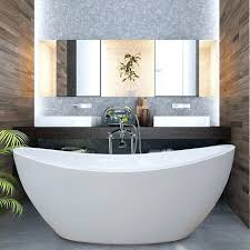 54in bathtub treat yourself and soak in peaceful tranquility with stylish and ergonomic freestanding bathtub the 54 x 30 bathtub home depot